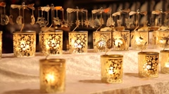 Many carousels candles. Stock Footage