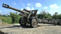 The German WWII Maisy battery, near Grandcamp-Maisy, Normandy, France. Stock Footage