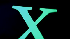 X Rotation Effect Stock Footage