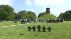 The German La Cambe military war grave cemetery, near Bayeux, Normandy France. Stock Footage