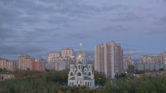 Moscow Old And New Architecture Stock Footage