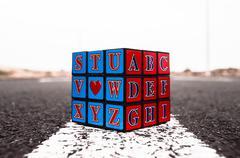 Rubik's cube solved Stock Photos