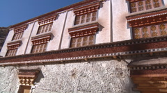 Building in Ladakh, India (Jammu and Kashmir). Stock Footage