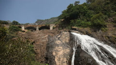 Waterfall in India Stock Footage