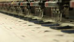 industrial embroidery and sewing machine1 HD - stock footage
