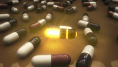 Magical pill Stock Footage