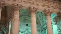 The royal stock exchange Stock Footage