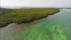 Florida Keys 4K Footage over Islamorada Stock Footage