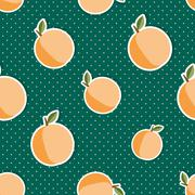 Stock Illustration of peach pattern. seamless texture with ripe peaches