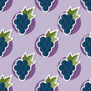 Stock Illustration of grape pattern. seamless texture with ripe grape