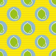 Stock Illustration of limes pattern. seamless texture with ripe limes