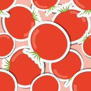 tomato pattern. seamless texture with ripe red tomatoes - stock illustration