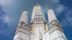 Thailand Phetchaburi Wat Mahatat Worawihan - stock footage