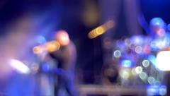 Band playing on stage Stock Footage