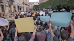Latin-american people protesting Stock Footage