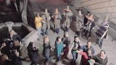 People celebrating with marichi Stock Footage