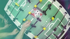 Stock Video Footage of Coin Toss Foosball Table soccer at a sports bar