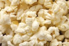 macro image of pop corn - stock photo