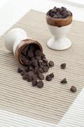 Small chunks of chocolate Stock Photos