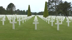 The Normandy American Cemetery, France. Stock Footage