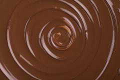 twirling chocolate - stock photo