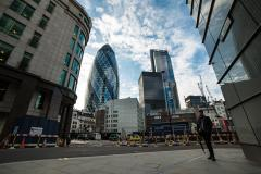 Timelapse of London in 4K - business centre of the city with clouds moving. Stock Footage