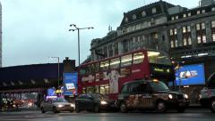 Road traffic by Waterloo Station, London Stock Footage