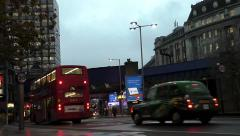 Time Lapse Transport traffic by Waterloo Station in London Stock Footage