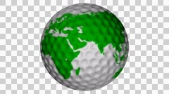 Golf Ball with Green Earth Texture 4K Stock Footage