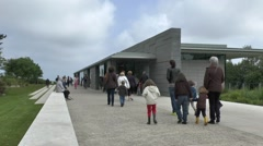 Visitors center, Normandy American Cemetery, France. Stock Footage