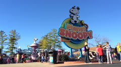 Planet Snoopy area at King's Island Stock Footage