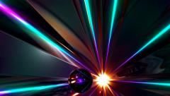 Psychedelic colorful disco dance loop abstract motion background Stock Footage