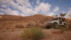 Desert Jeep pass by la  4K Stock Footage
