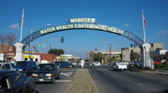 Downtown section of Modesto, California  (Clip 3 of 5) Stock Footage
