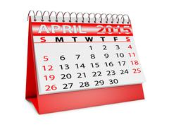calendar for april - stock illustration