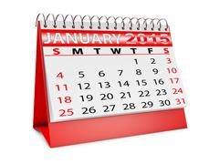 Stock Illustration of calendar for january