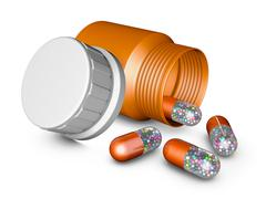 capsules - stock illustration