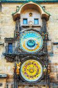 Stock Photo of the prague astronomical clock at old city hall