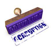 corruption - stock illustration