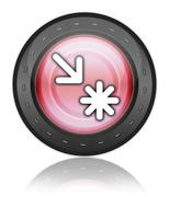 Icon, button, pictogram point of interest Stock Illustration