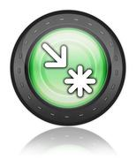 icon, button, pictogram point of interest - stock illustration