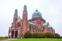 national basilica of the sacred heart in koekelberg - stock photo