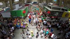 Aerial View of Municipal Market (Mercado Municipal) in Sao Paulo Stock Footage