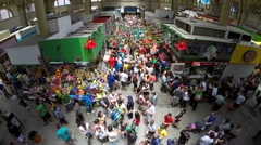 Aerial View of Municipal Market (Mercado Municipal) in Sao Paulo Stock Footage