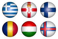 european championship 2016 group f - stock illustration