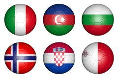 european championship 2016 group h - stock illustration