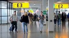 Amsterdam Airport Schiphol, Amsterdam, Netherlands. Stock Footage