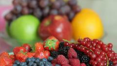 Fruit still life Stock Footage