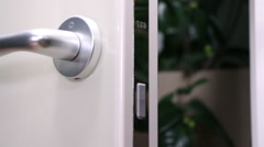 Interior doors with effective design Stock Footage