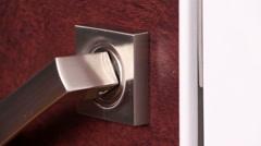 Interior doors with effective design - stock footage